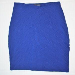 EXPRESS Women's Blue Stretch Career Pencil Skirt